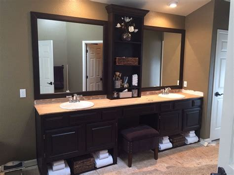 hometalk master bath redo with general finishes wood stain