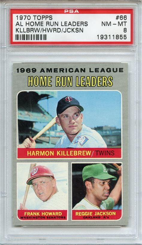 al home run leaders lot detail 1970 topps 66 al home run leaders kllbrw hwrd