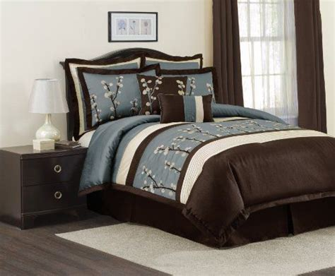 brown and blue bedding sets brown color combinations comforter and blue