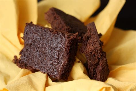 les petits plats de brownie au chocolat sans beurre sans œuf