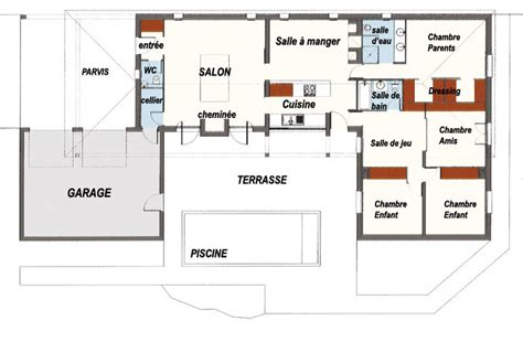 plan maison contemporaine