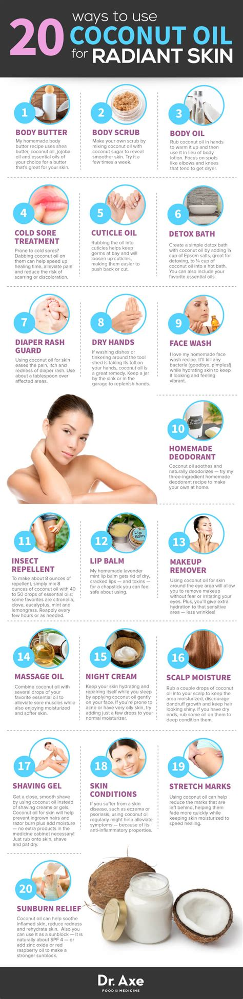 20 Secret Ways To Use Coconut Oil For Skin  Dr Axe