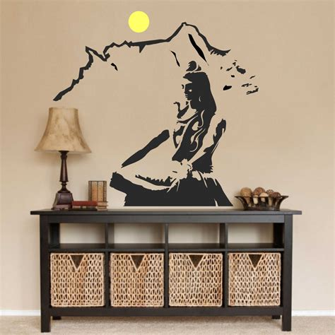 lord shiva wall decal hindu prayer decals car decals
