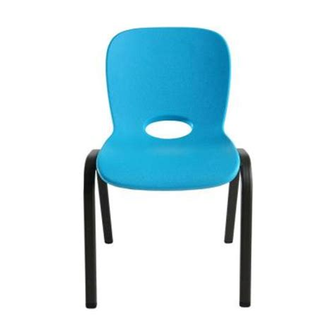 lifetime children s contemporary stacking chair in blue