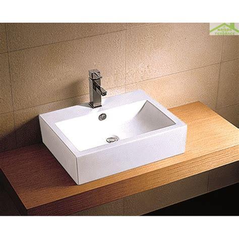 vasque rectangulaire 224 poser sur un meuble de bain 33 5x29x11 5 cm en c 233 ramique