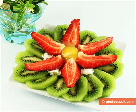 a dessert made of kiwi fruit and strawberry recipe children s food genius cook healthy