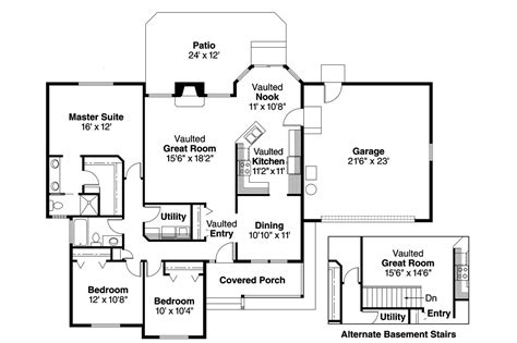 Ranch House Plans-rigdon-associated Designs