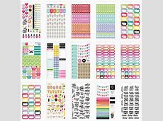 Day Planner Stickers Pack, Perfect for your Commit30 2017