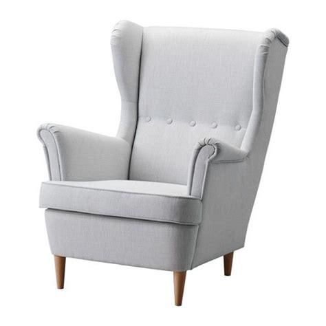 strandmon wing chair nordvalla gray grey floor ls and ottomans