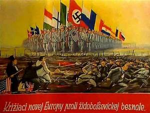 "First Slovak Republic propaganda poster. ""Crusaders of a ..."