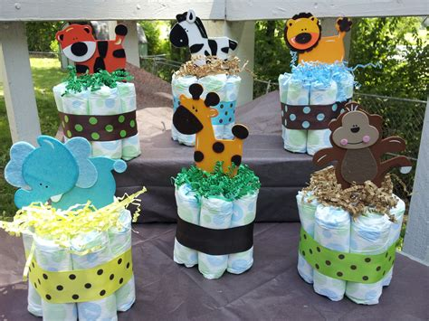 baby shower table decorations jungle theme baby shower