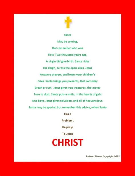 Instant download Christmas Poem  poem describing how Christmas can in