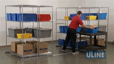Uline Sliding Storage Shelves YouTube