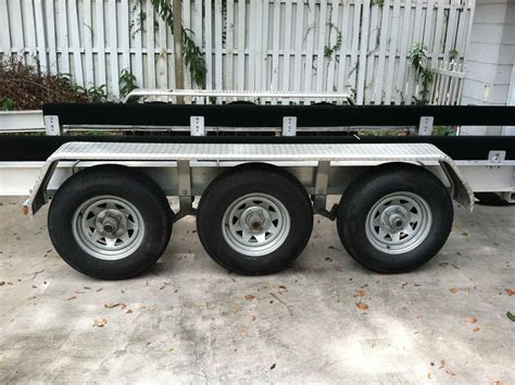 Boat Trailer Triple Axle Used by Triple Axle Boat Trailer For Sale The Hull Truth