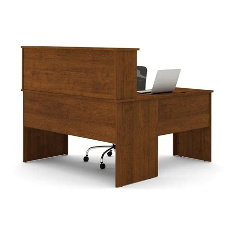 bestar somerville l shaped desk with hutch in tuscany