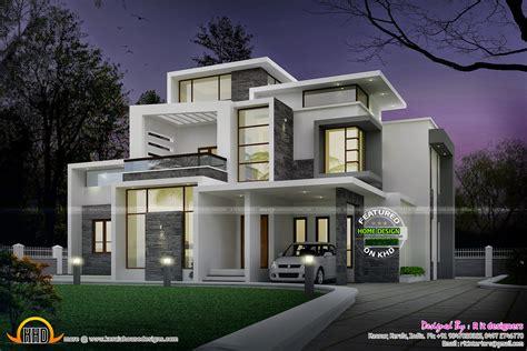 Grand Contemporary Home Design-kerala Home Design And