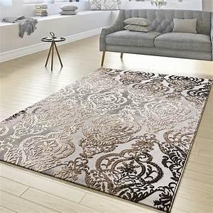 Türkische Teppiche Modern : teppich wohnzimmer abstrakt ornament muster kurzflor teppich meliert grau beige moderne teppiche ~ Markanthonyermac.com Haus und Dekorationen