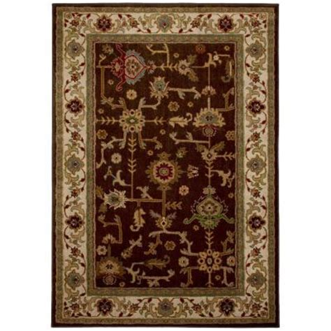 8x10 area rugs home depot mohawk home taba brown 8 ft x 10 ft area rug 313685