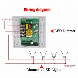 Led Dimmer Anschließen : buy 200w white led dimmer ir knob switch remote control many units dimmable led ~ Markanthonyermac.com Haus und Dekorationen