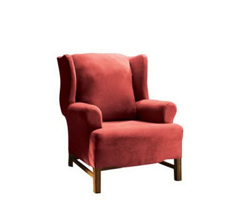 sure fit stretch faux suede wing chair slipcover h147697