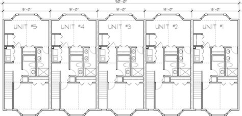 5 Unit House Plans, 5 Unit Townhouse Plans, 2 Bedrooms, Fv-568 Door Handleset Security Double Doors How Much To Install A Patio Garage Repair Huntsville Al Large Over The Shower Hook Home Depot Exterior With Sidelights Pet Safe Dog