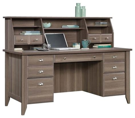 sauder shoal creek executive desk with hutch ash desks and hutches by homesquare