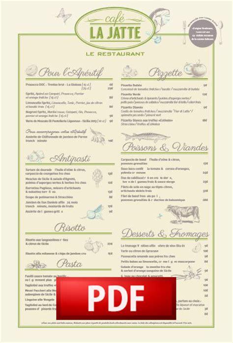 cafejatte les cartes caf 233 la jatte restaurant brasserie italienne
