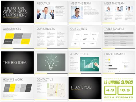 universal pitch deck three powrpoint presentation templates on creative market