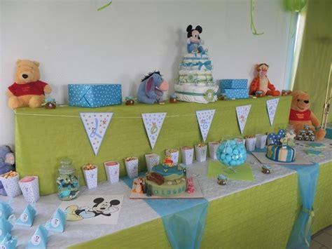 decoration bapteme garcon bleu vert