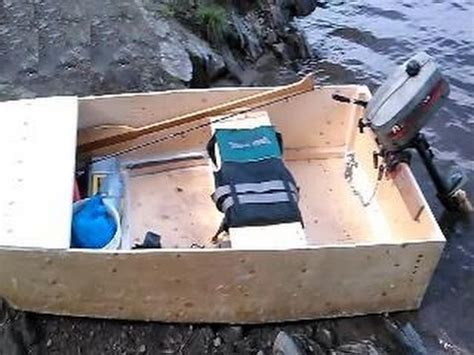Homemade Fishing Boat by Home Made Diy Fishing Boat With Outboard Motor Youtube