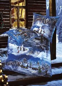 Bettwäsche Für Winter : biber bettw sche mit wintermotiv my blog ~ Markanthonyermac.com Haus und Dekorationen
