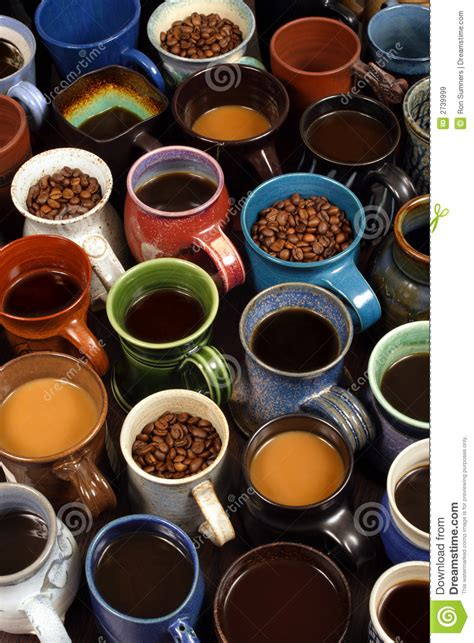 Collection Of Coffee Mugs Royalty Free Stock Images   Image: 2739999