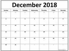December 2018 calendar 56+ templates of 2018 printable