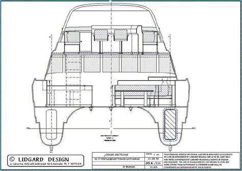 Catamaran Hull Dimensions by 53 Ft Power Catamaran