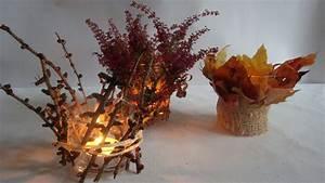 Einfache Herbstdeko Tisch : bastelideen im herbst teelichter dekorieren youtube ~ Markanthonyermac.com Haus und Dekorationen