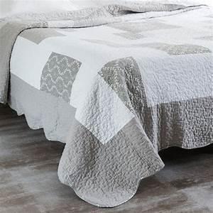 Bettdecke 240 X 260 : boutis 2 taies en lin gris 240 x 260 cm camille maisons du monde ~ Markanthonyermac.com Haus und Dekorationen