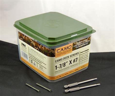 100 camo deck fastening system camo