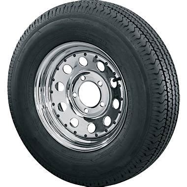 Boat Trailer Tire And Rim Combo by St205 75d14 Bias Ply Trailer Tire With 5 Bolt Chrome