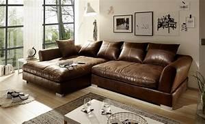 Big Sofa Vintage : sch nheit ledersofa l form fein big sofa vintage wildlederoptik braun hannah 9445 frische haus ~ Markanthonyermac.com Haus und Dekorationen