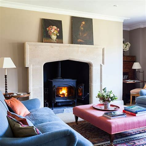 country living room ideas with fireplace country sitting room with fireplace country living
