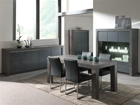 salle manger complte gris laqu moderne murilo