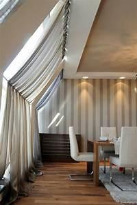 Vorhänge Für Dachfenster : 1001 ideen f r dachfenster gardinen und vorh nge ~ Markanthonyermac.com Haus und Dekorationen
