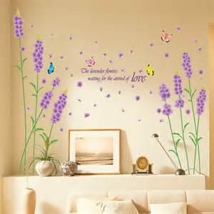 sticker mural fleur autocollant romantique d 233 coration salon chambre ebay