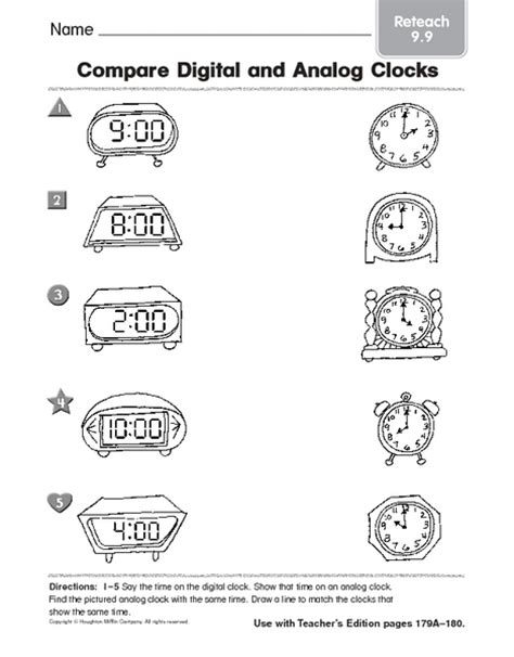 Analog And Digital Clock Worksheets For Kindergarten  Time Worksheets For Learning To Tell