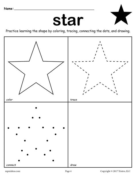 12 Shapes Worksheets Color, Trace, Connect, & Draw! Supplyme