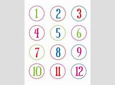 FREE printable number stickers 124 christina william