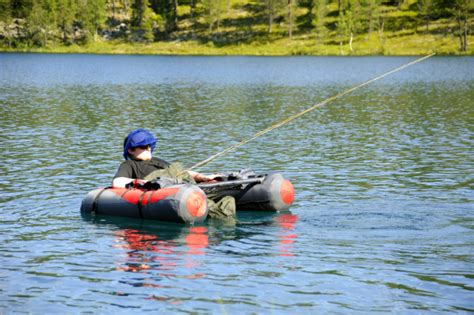 Round Belly Boat by Lapland Vuollerim Welcomes You Belly Boat Rental