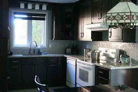 Black Kitchen Cabinets White Appliances