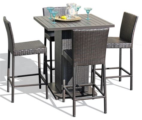 Venus Pub Table Set With Barstools 5 Piece Outdoor Wicker