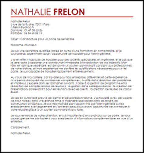 modele lettre de motivation de secretaire administrative document